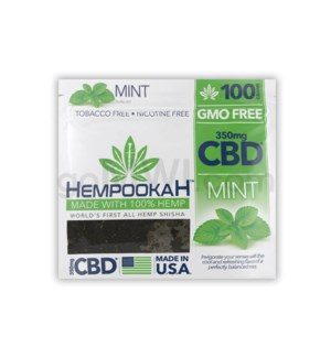 Hempookah 100% Hemp Infused Shisha 100g - Mint 12PC/BX