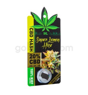 IHL CBD Sativa Black Hash 1G - Super Lemon Hash