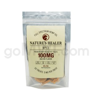 Nature's Healer CBD Pet Treats 100mg (20pk/5mg ea) Bacon