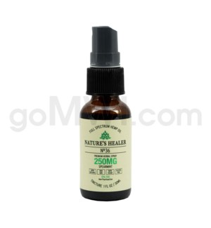 Nature's Healer CBD Tincture 30ml 250mg Spray Spearmint
