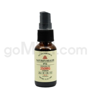 Nature's Healer CBD Tincture 30ml 250mg Spray Strawberry