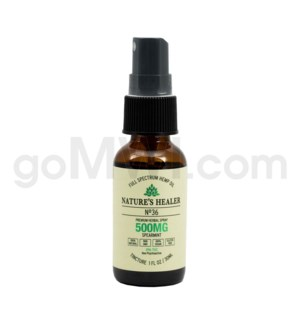 Nature's Healer CBD Tincture 30ml 500mg Spray Spearmint