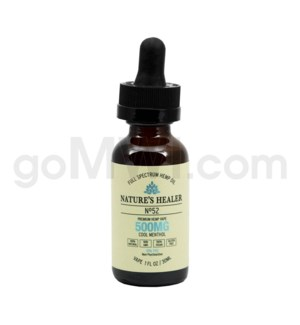 Nature's Healer CBD Vape Juice 500mg 30ml Cool Menthol