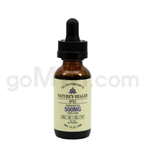 Nature's Healer CBD Vape Juice 500mg 30ml Purple Rain