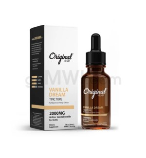 Original Hemp CBD 30ml 2000mg Full Spectrum - Vanilla Dream