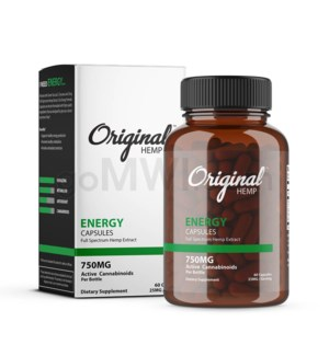 Original Hemp CBD - 750mg Energy Capsules 60CT