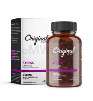 Original Hemp CBD - 750mg Stress Capsules 60CT