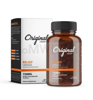 Original Hemp CBD - 750mg Relief Capsules 60CT