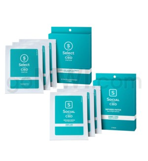 Select CBD Infused Patch 20mg 3pk 12pcs/bx