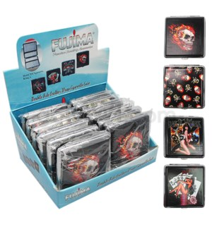 DISC Cigarette Case Double Side Assorted KINGS 12PC/BX