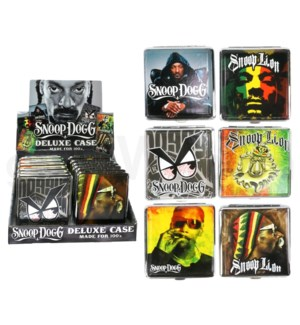 DISC Snoop Dogg Leather Cig Case 12PC/BX 100s