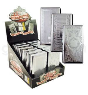 DISC Cigarette case w/assorted engraving design 12PC/BX