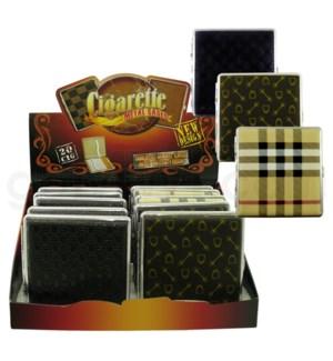 DISC Cigarette Case Leather 12PC/BX