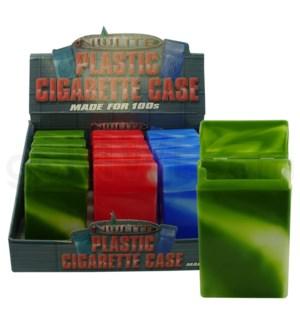 DISC Cigarette Case Nulite plastic 100Æs metal finish 12PC/B
