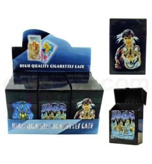 Cigarette case plastic - Native American 12PC/BX