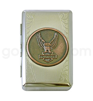DISC Tobacco case Eagle design 12PC/BX