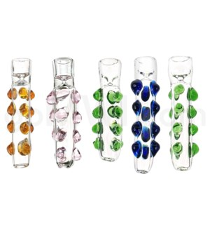 "I/O 4"" Chillum Clear with Marbles Assorted (KITGP018)"