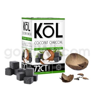Kol Coconut Charcoal Cubes 72ct