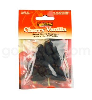 Wildberry Incense Cherry Vanilla Pre-Packed Cones 15/ct