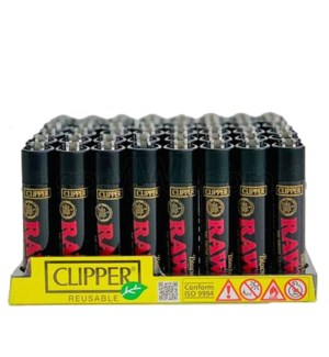 Clipper Raw Black Clipper Lighter - Special Edition 48CT/BX