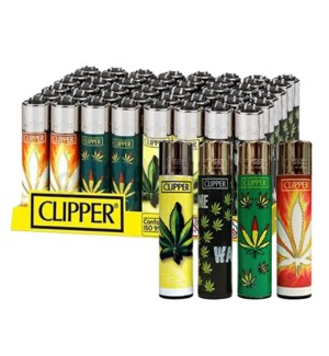 Clipper Electronic Lighters Hojas Maria 48CT/BX