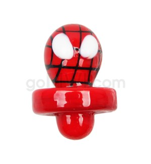 Quartz Directional Flow Carb Cap - Spiderman