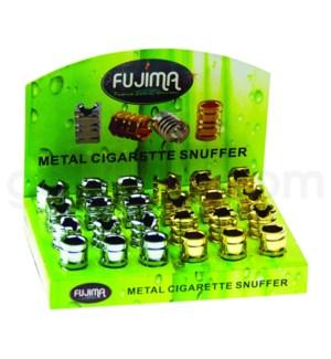 Fujima Metal Cigarette Snuffer Asst Round Designs 24PC/BX
