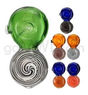 """C/T 3"""" Flat Two Tone Spoon Swirl Design"""