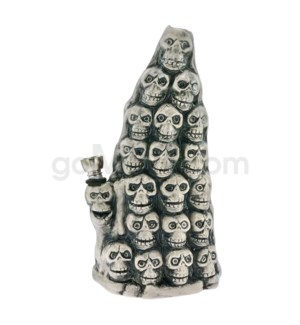 "Ceramic WP 8"" Skull Pyramid"