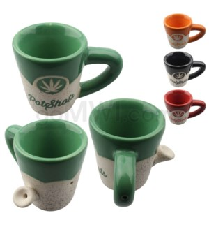 "Ceramic WP 2.5"" Shot Glass - Assorted 12/cs"