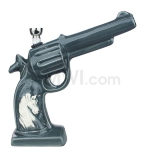 Ceramic WP Gun w/Horse Image-Grey