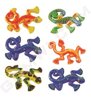 "DISC Ceramic Lizard Large7.5"" W/Spots Assorted Colors"