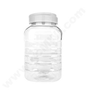 Plastic Square Display Jar 850ml