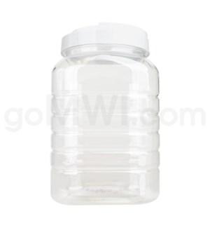 Plastic Square Display Jar 1 Gallon