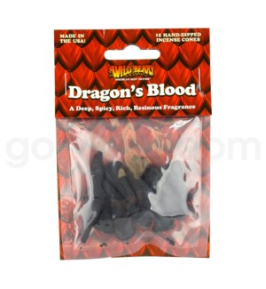 Wildberry Incense Dragon's Blood Pre-Packed Cones 15/ct
