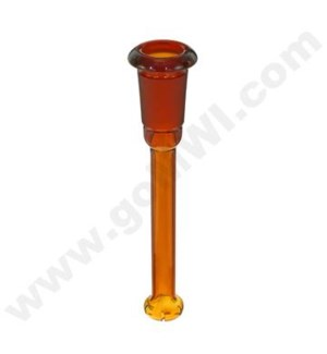 "DISC Glass Downstem GOG 14mm X 4"" Shower Head Diffuser Amber"