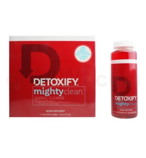 Detoxify Mighty Clean Tropical Flavor 3ct-8oz bottles/bx