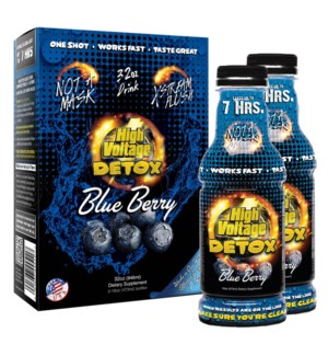 High Voltage 7-Hour Detox Drink 32oz (16oz 2CT) - Blueberry