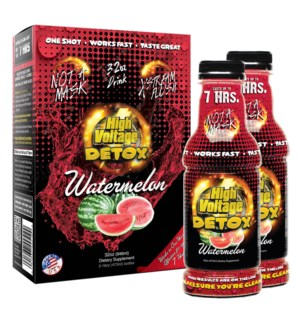 High Voltage 7-Hour Detox Drink 32oz (16oz 2CT) - Watermelon