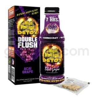 High Voltage Double Flush Detox 16oz w/ 6CT Caps -Acai Grape