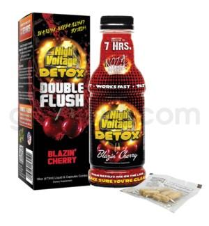 High Voltage Double Flush Detox 16oz w/ 6CT Caps -Blaz.Cherry