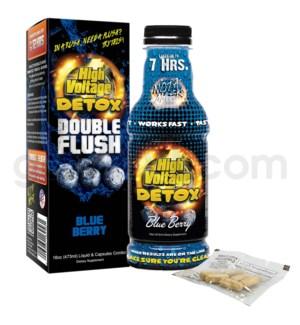 High Voltage Double Flush Detox 16oz w/ 6CT Caps -Blueberry