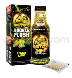 High Voltage Double Flush Detox 16oz w/ 6CT Caps -Lemon Lime