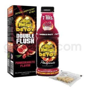 High Voltage Double Flush Detox 16oz w/ 6CT Caps -Pomegranate