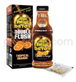 High Voltage Double Flush Detox 16oz w/ 6CT Caps -Trop.Orange
