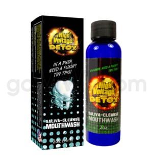 High Voltage Saliva Cleanse Mouthwash Detox 2oz