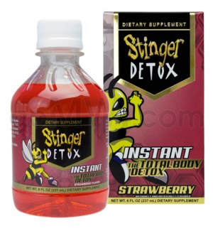 Stinger Detox 8oz Instant Total Body - Strawberry