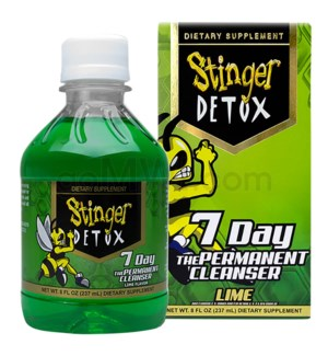 Stinger 7 Day Permanent Detox 8oz - Lime