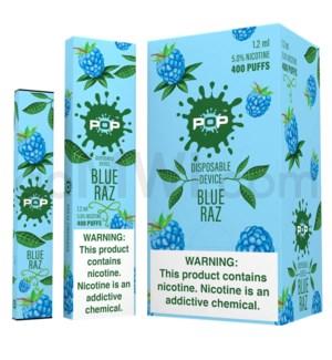 Pop Disposable Nic-Salt E-Juice 1.2ml 5% - Blue Razz