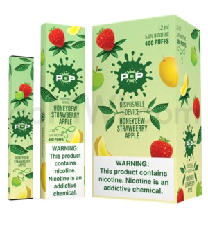 Pop Disposable Nic-Salt E-Juice 1.2ml 5% -Honeydew Strawberry